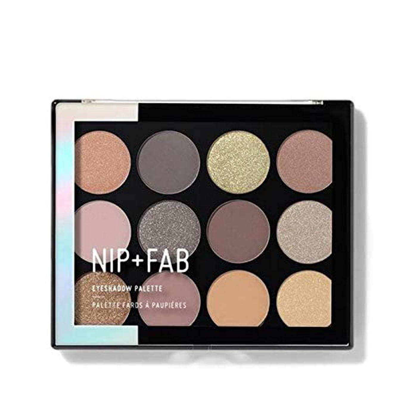 足枷パスタなぜ[Nip & Fab ] アイシャドウパレット12グラム穏やかグラム4を構成するFab +ニップ - NIP+FAB Make Up Eyeshadow Palette 12g Gentle Glam 4 [並行輸入品]
