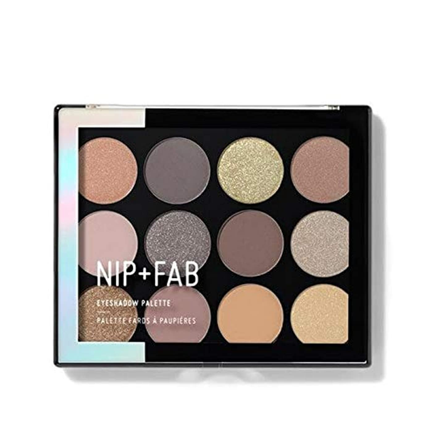 ジェームズダイソン準拠引き潮[Nip & Fab ] アイシャドウパレット12グラム穏やかグラム4を構成するFab +ニップ - NIP+FAB Make Up Eyeshadow Palette 12g Gentle Glam 4 [並行輸入品]