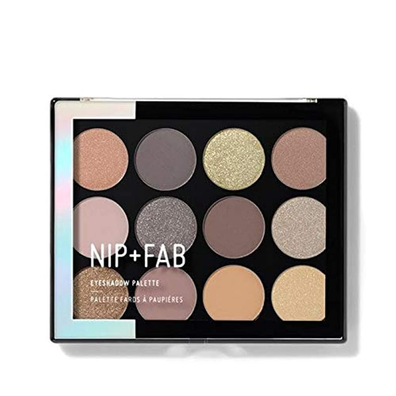 実験的ダーベビルのテス高める[Nip & Fab ] アイシャドウパレット12グラム穏やかグラム4を構成するFab +ニップ - NIP+FAB Make Up Eyeshadow Palette 12g Gentle Glam 4 [並行輸入品]