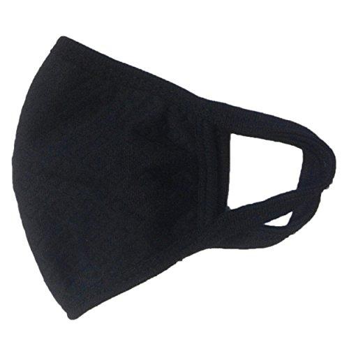 布マスク ファッション 風邪 ウィルス 予防 だてマスク 活性炭入り三層 竹炭 花粉 (ブラック)