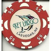 $ 5 Key LargoホテルRare Vintageラスベガスカジノチップ