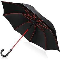 SUGURE 傘【210T収納ケース付き】210T撥水加工 軽量ながら超強靭8本骨 耐強風豪雨 ワンタッチ自動開け  梅雨対策 晴雨兼用 140cm 長傘 紳士長傘 レディース用