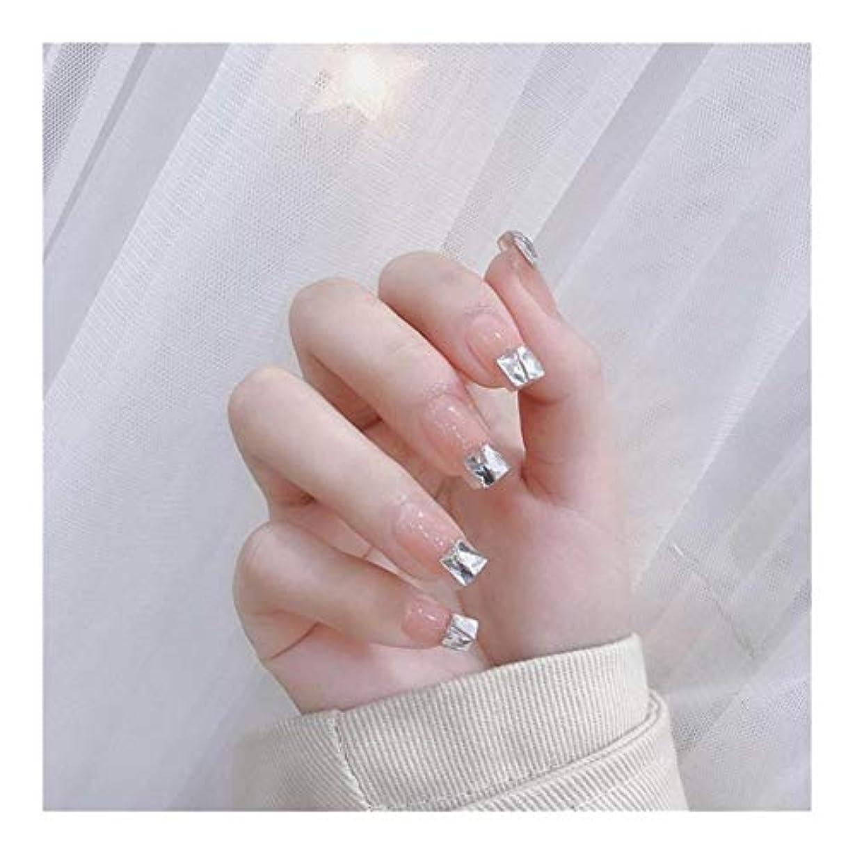 スカープ宝石ピーブTAALESET ラインストーンジュエリー12サイズで24本の偽の釘ジェントル気質は、偽の釘をABS (色 : 24 pieces)