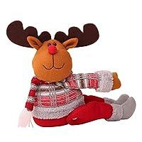 ZALING かわいい漫画人形クリスマスカーテンバックルウィンドウ装飾ホーム用品(トナカイスタイル)