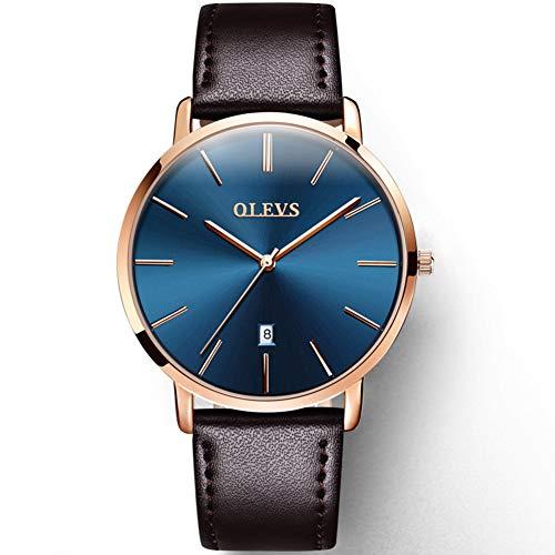 0801209b08 OLEVS(オレブス) メンズ超薄型 合金腕時計 クオーツアナログカレンダー 日付窓 ビジネス