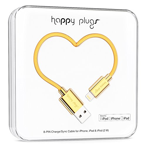 happy plugs Deluxe Edition Lightningケーブル 2.0m Apple認証 ゴールド9910 022678 【国内正規品】
