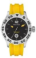 ノーティカ Nautica A14604G 46mm Stainless Steel Case Yellow Resin Mineral Men's Watch 男性 メンズ 腕時計 【並行輸入品】