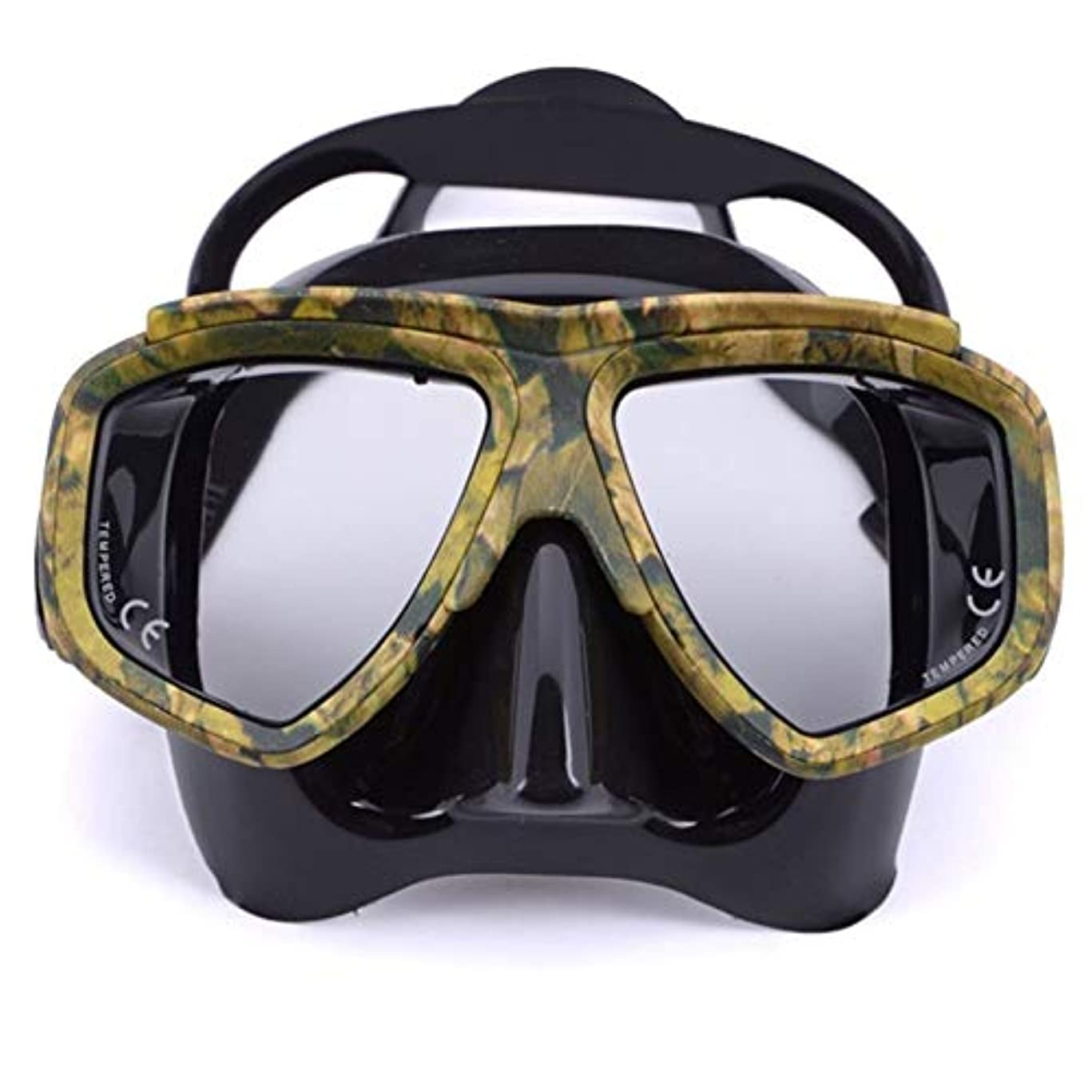 モンク日焼け反抗プロの迷彩迷彩スキューバダイビングミラーシュノーケリングレンズフレーム機器安全水泳ゴーグル g5y9k2i3rw1