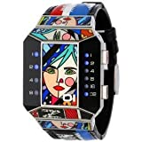 腕時計 01TheOne Unisex SC122B1 Split Screen Romero Britto Art Limited Edition Watch【並行輸入品】