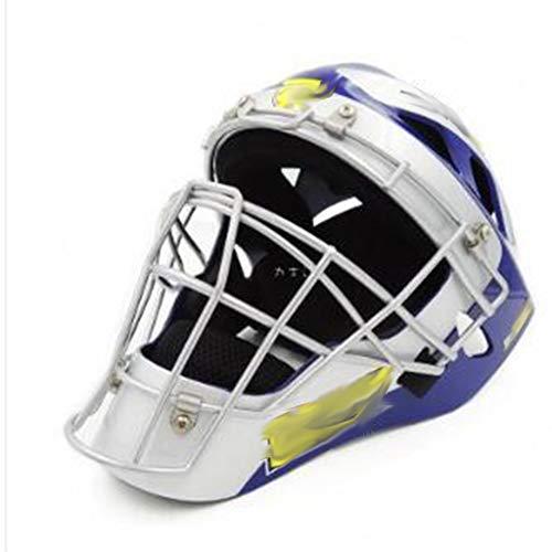 野球の保護装置大人の野球ソフトボールキャッチャー保護装置フルフェイスヘルメット (色 : B)