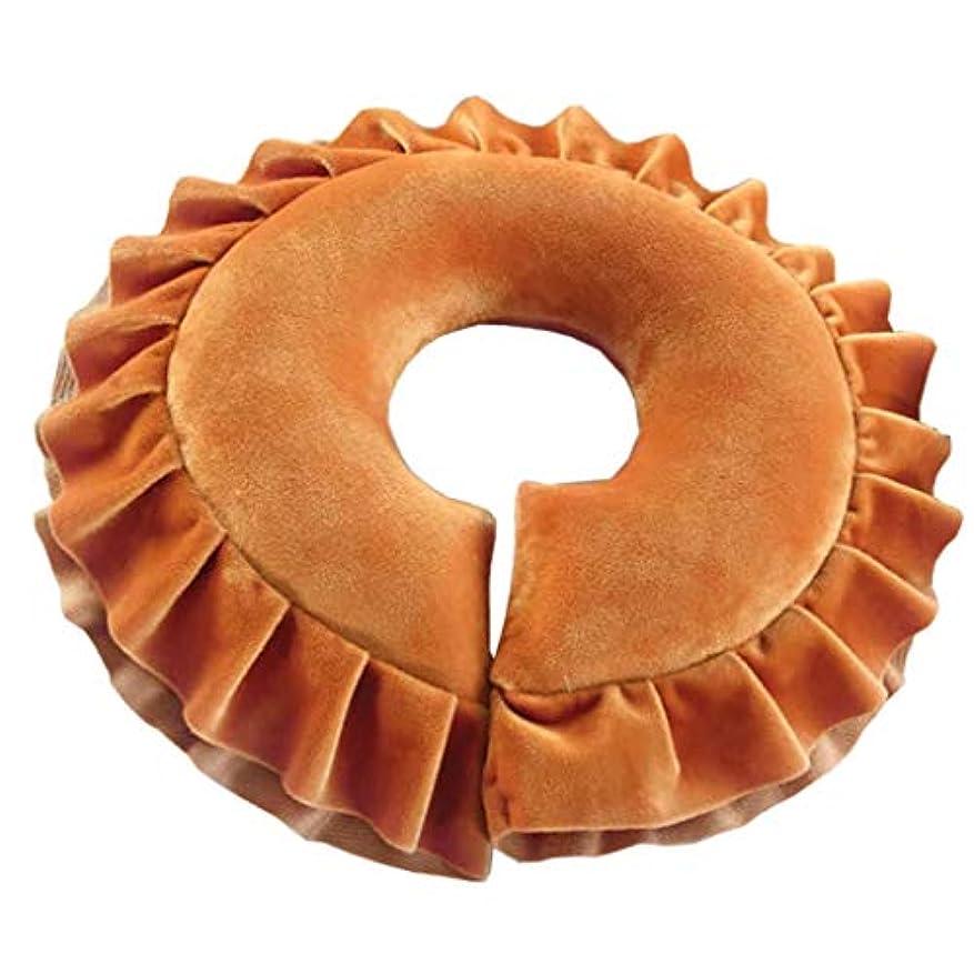平和な粒粘性のjoyMerit ホテル マッサージ枕 顔マクラ ピロー サロン ヘッドレスト フェイスクッション - 褐色