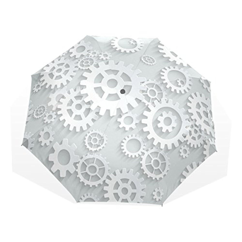 AOMOKI 折り畳み傘 折りたたみ傘 手開き 日傘 三つ折り 梅雨対策 晴雨兼用 UVカット 耐強風 8本骨 男女兼用 ギア 幾何学