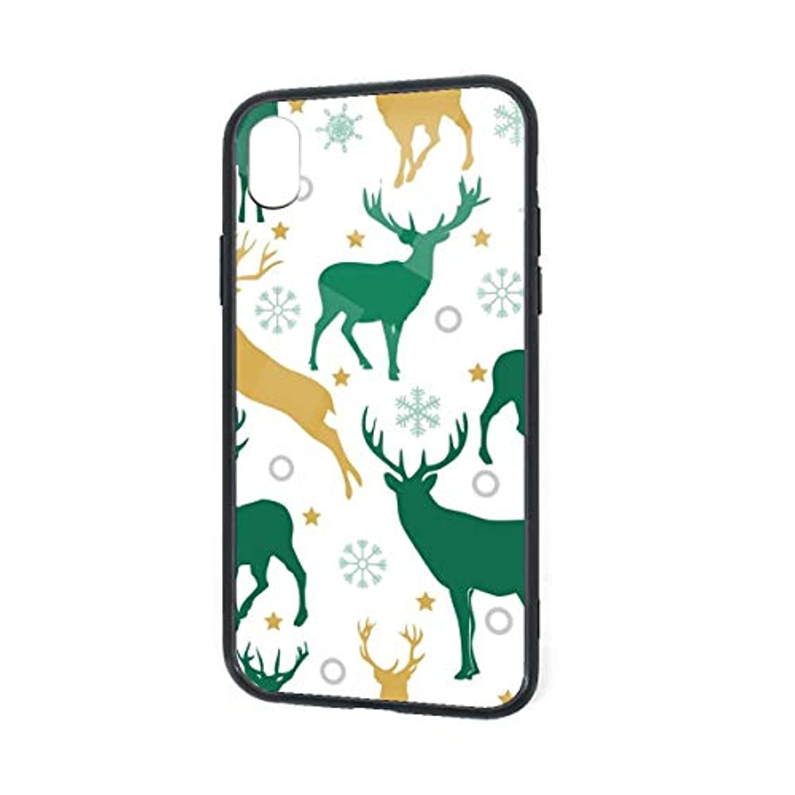 安定比類なき摂氏クリスマスのパターンのトナカイスノーフレーク Iphone Xr ケース おしゃれ 人気 デザイン フィギュア Tpu アイフォンケース 傷防止 ソフト スリム軽量 レンズ保護 耐衝撃 指紋防止 アイフォン ケース カバー 専用 スマホケース (Iphone Xr)