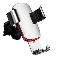 金属安定したアンチスリップ防振重力車の電話帳ブラケット車のブラケット (色 : シルバー しるば゜)