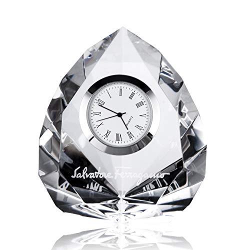 DAOBO クリスタル 時計 オプティカ オーナメントクロック クリスタル スタンド時計 しゃしん 飾り 記念品 贈答品 退職祝い 定年退職 昇進祝 上司 男性 女性 プレゼント ギフト(彫刻 ネーム入り)