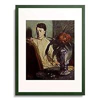 エドガー・ドガ Edgar Degas 「Woman with Oriental Vase. 1872」 額装アート作品