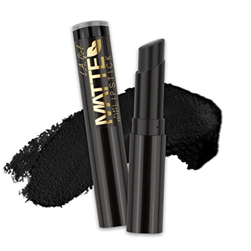 正確動かすミント(3 Pack) L.A. GIRL Matte Flat Velvet Lipstick - Raven (並行輸入品)