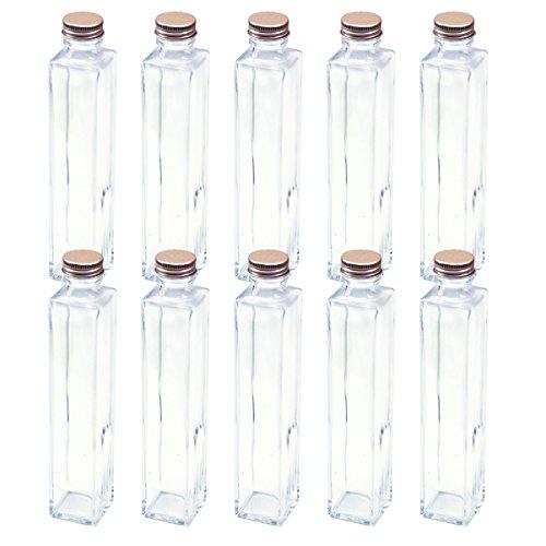 日本製 ハーバリウム 四角柱ガラス瓶 200cc 10本セット