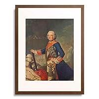Pesne, Antoine,1683-1757 「Frederick II (the Great) of Prussia.」 額装アート作品