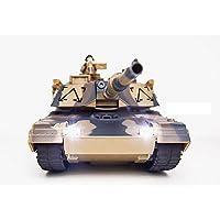 VIGAS 1/24 2.4G ラジコン戦車 アメリカM1A2 SEP モデル主力戦車 砲塔が300度回われる 前進、後退、360度回転できます