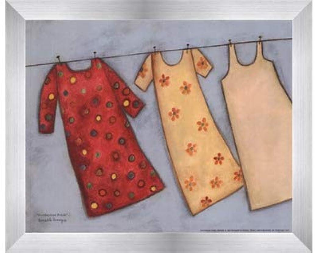 飢えた配偶者遵守するClothesline Fresh by Bernadette Deming – 10 x 8インチ – アートプリントポスター LE_479905-F9935-10x8