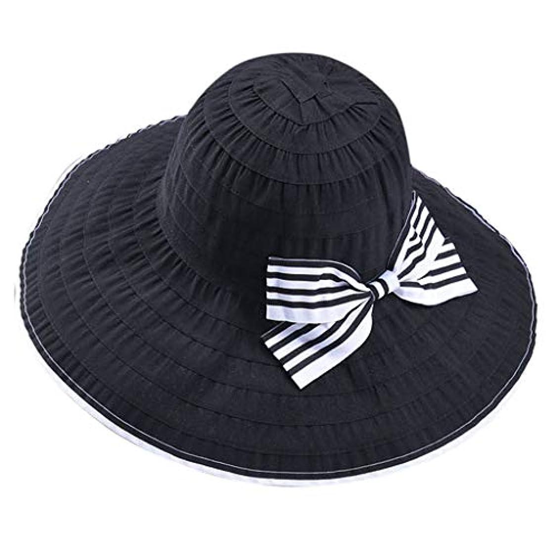 ホーン見る靴帽子 サイズ調整 テープ ハット 黒 ニット帽 ビーチサンダル ターバン 夏 ベレー帽 レディース 女優帽 日よけ 熱中症予防 日焼け 折りたたみ 持ち運び つば広 自転車 飛ばない 夏 春 サイドリボン ROSE ROMAN