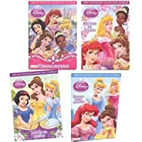 Disney Princess in Spanish Activity And Jumbo Colouring Book (Set Of 4)
