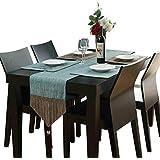 コットンテーブルランナーグリーン、ヴィンテージデザインインテリア、家族ディナー、集まり、パーティー、毎日の使用(5サイズ対応)の理想的なテーブルランナー (色 : 緑, サイズ さいず : 32×200cm)
