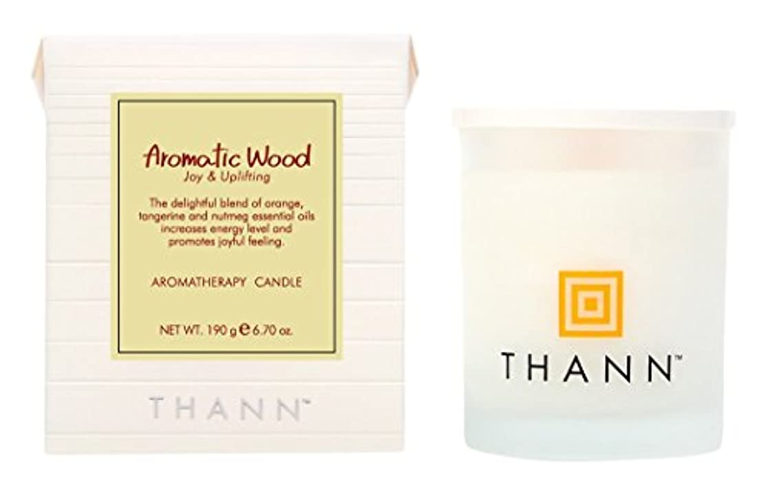 追い出すファブリック時間厳守タン アロマティックキャンドル AW(Aromatic Wood)