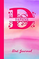 Daphne Dot Journal: Personalized Custom First Name Personal Dotted Bullet Grid Writing Diary | Cute Pink & Purple Watercolor Cover | Daily Journaling for Journalists & Writers for Note Taking | Write about your Life Experiences & Interests