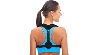 Posture Magic Posture Corrector For Men and Women - Improve Bad Posture - Comfortable Upper Back Brace - Clavicle Support Device for Thoracic Kyphosis - Shoulder and Neck Pain Relief