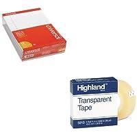 KITMMM5910341296UNV20630 - バリューキット - ハイランド透明テープ (MMM5910341296) およびユニバーサル穴あきエッジライティングパッド (UNV20630)