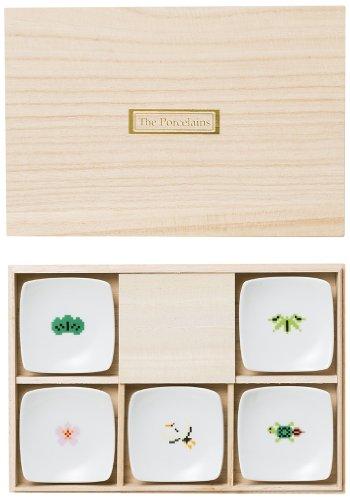 西海陶器 The Porcelains めでたい箸置き5個セット