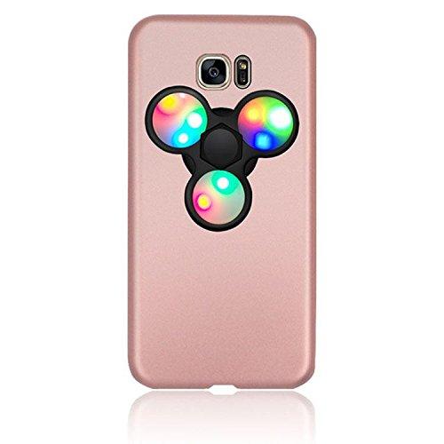 Dmeru IPhone7 PLUS iPhone7plus LEDハンドスピナー付き スマホンケース LED 光る ピカピカ フォーカス玩具  軽量 スリム 超薄型メッキ 360度保護 全面保護 ハード バック ケース アイホン 暇つぶし 独楽 集中力 玩具 耐久性 カバー スマホケース スマホカバー