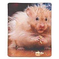 マウスパッド 滑り止め 18×22cm ゲームに適用 オシャレ レディース メンズ 子供 ハムスターげっ歯類チップス ゴム 実用性 パソコン対応
