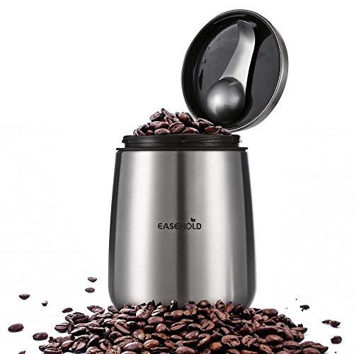 EASEHOLD コーヒー キャニスター ステンレス 保存容器 防湿保存缶 茶筒 コーヒー豆貯蔵缶 大容量密封瓶 茶の葉、お菓子、砂糖、香料に適用 キッチン用品