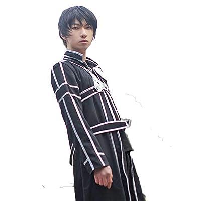 <ELEEJE>ソードアート・オンライン Sword Art Online SAO キリト 桐ヶ谷 和人 きりがや かずと 風 衣装 コスプレ コスチューム セット ハロウィン(なかむら堂オリジナル) (S)