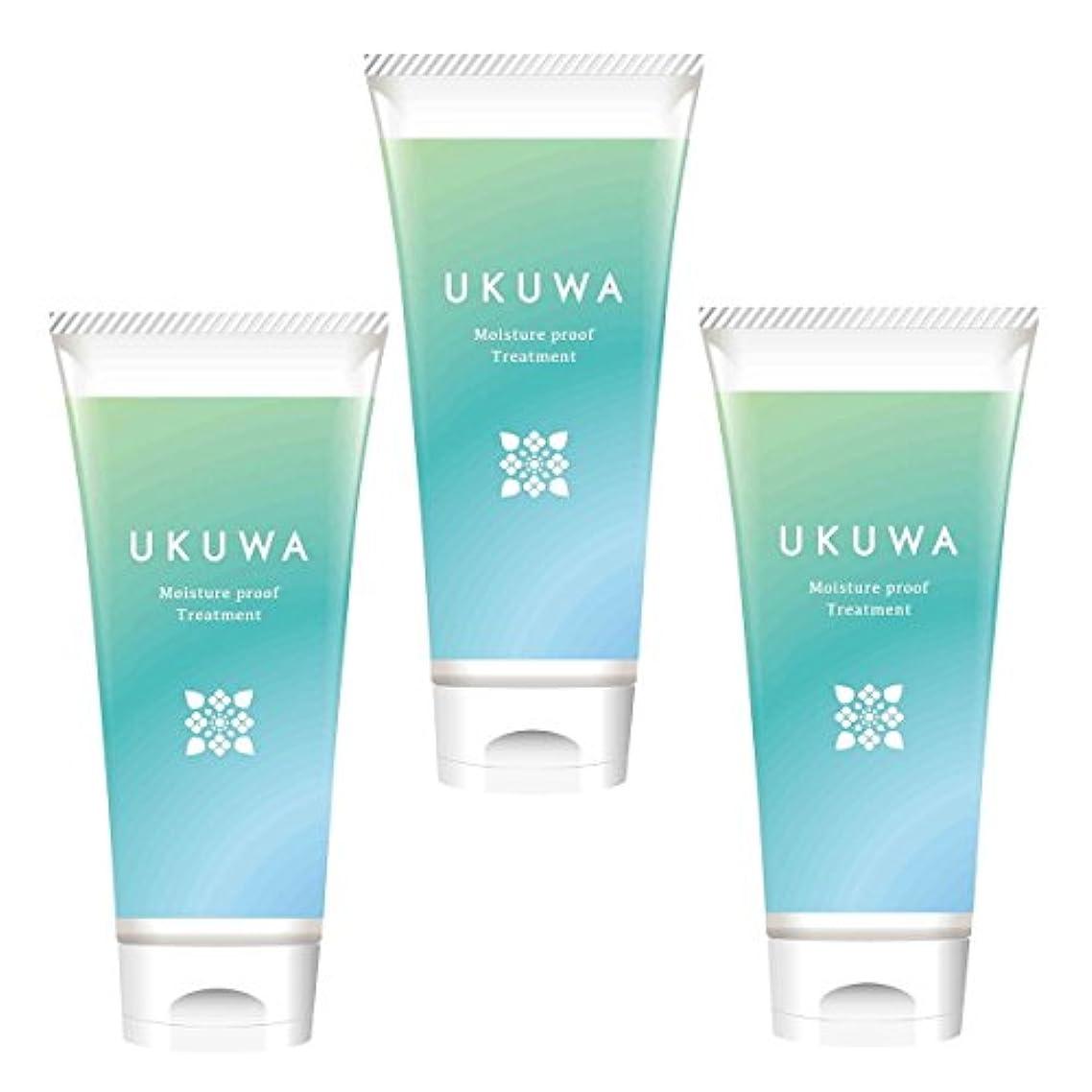 排出セージラビリンスディアテック UKUWA(ウクワ)(雨花)モイスチャー プルーフ トリートメント 100g×3本セット