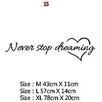 Mxl-Stickers 意欲を高める大規模オフィス引用フレーズビニールウォールステッカーデカールのためにリビングルームのベッドルーム教室事務所壁紙装飾 (色 : 5, サイズ : Size XL)