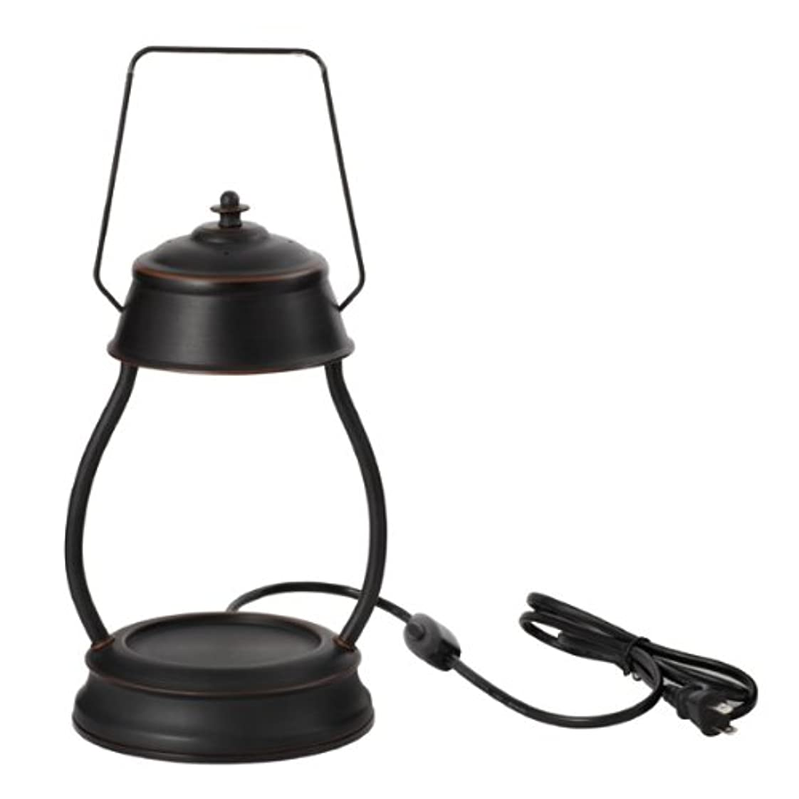 排出土砂降りクスコ電球の熱でキャンドルを溶かして香りを楽しむ電気スタンド キャンドルウォーマーランプ (ブラウン)