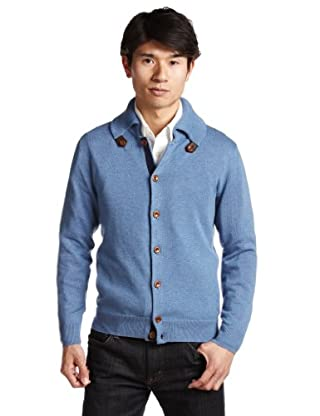 Cotton Spanish Collar Cargigan 1228-106-0232: Light Blue
