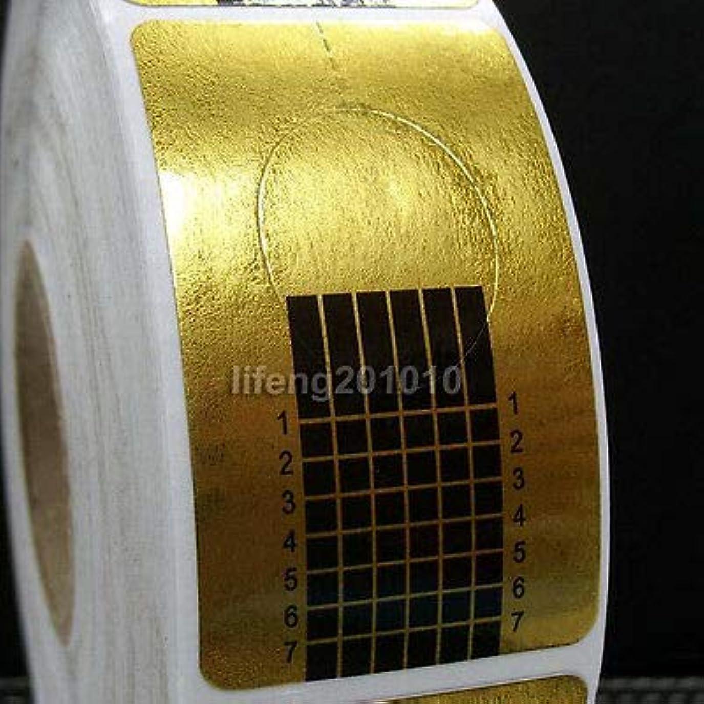 湿度シュートあいまいなFidgetGear 500×ネイルアートフォームガイドアクリルUVジェルチップエクステンションデコレーションステッカーツール