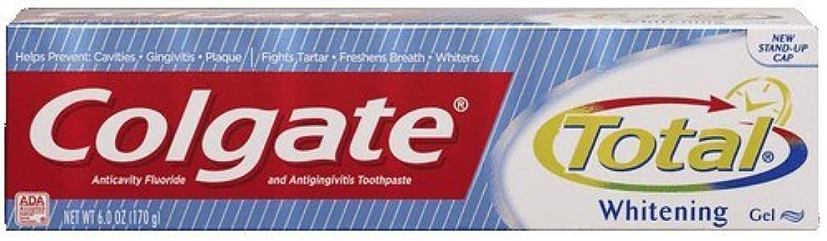 開始雷雨期間海外直送品Colgate Colgate Total Multi Protection Whitening Gel Toothpaste, 6 oz (Pack of 6)