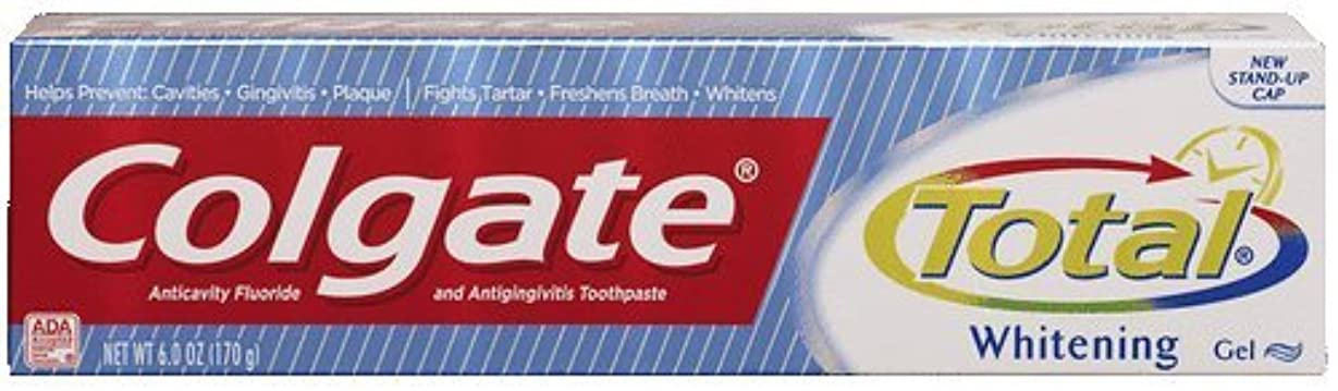 パネル囲い知らせる海外直送品Colgate Colgate Total Multi Protection Whitening Gel Toothpaste, 6 oz (Pack of 6)