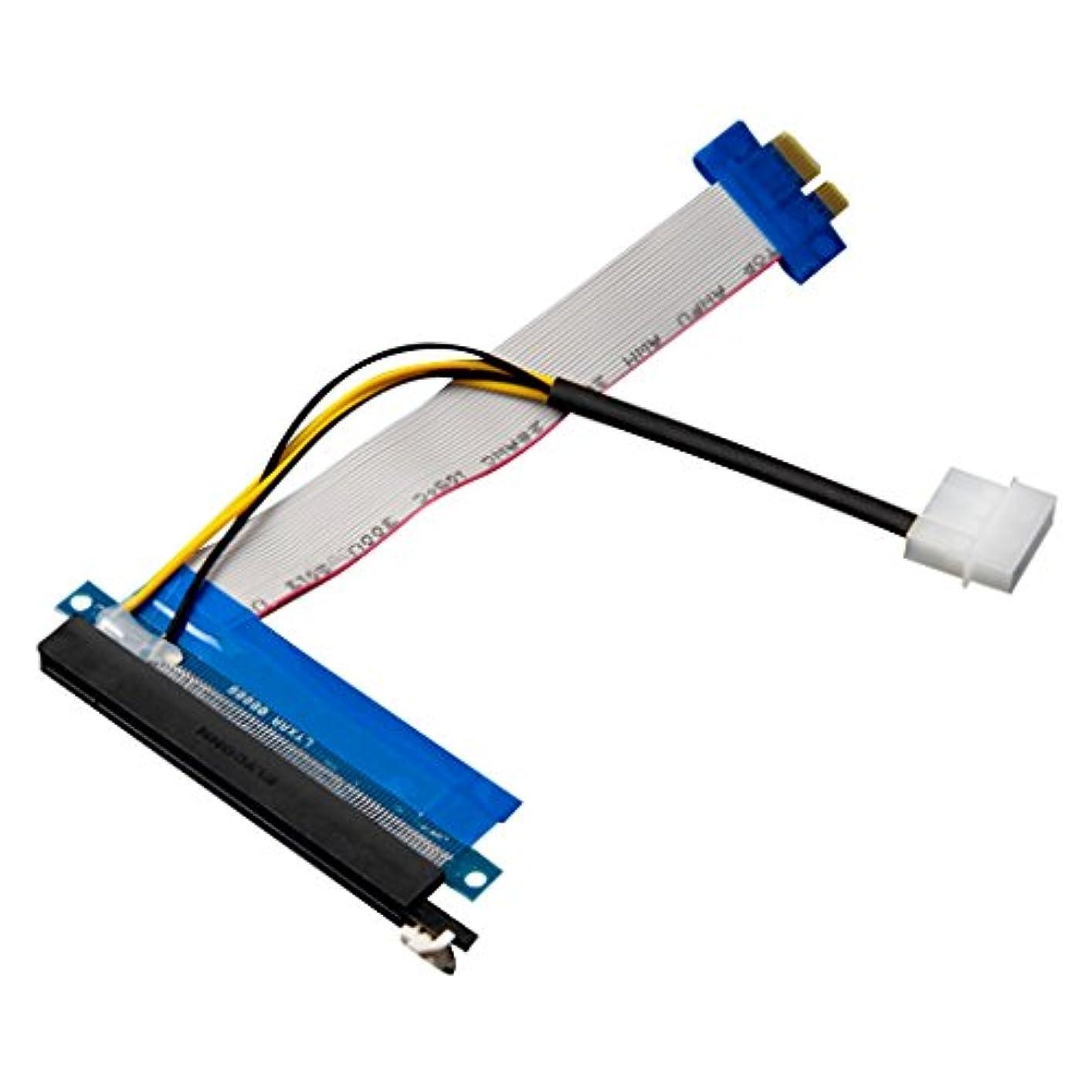 バンドル仲人父方の【ノーブランド 品】PCIE 延長ケーブル ライザカードのアダプタ電源