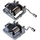 Moligh doll 2 PCS Music Box Cranked Inner Rotational Movement (Love Story & Memory)