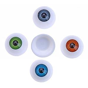 CCINEE ドール目  ドールアイ ラウンド形 半円立体 人形眼 目玉 操り人形 ハンドメイド人形修理に  26mm 4色 8個セット