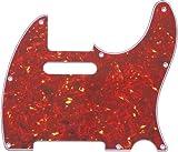 【国産】62年式テレキャスター用ピックガード レッドトートイズ(赤鼈甲)3P ミリ PG-TL62-RT3