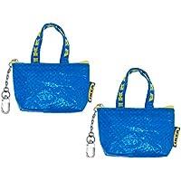 IKEA Key & Coin Purse KNOLIG Bag Small Blue with One Zipper Bag