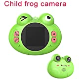 子供のデジタルカメラ、子供のためのカエルのおもちゃのカメラ子供のデジタルカメラ2.0インチIPSスクリーン8MPビデオデジタルカメラのカムコーダー, Green